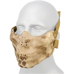AMA Tactical Airsoft Half Face Skull Mask - NOM