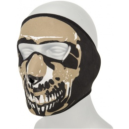AMA Tactical Airsoft EVA Skull Full Face Mask - BLACK