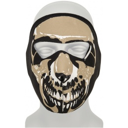 AMA Tactical Airsoft EVA Skull Full Face Mask - BLACK