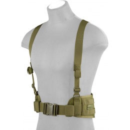 Lancer Tactical Low Profile MOLLE Harness Battle Belt - OD GREEN