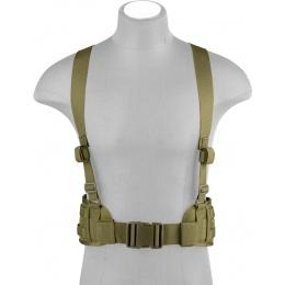 Lancer Tactical Low Profile MOLLE Harness Battle Belt - OD GREEN
