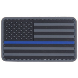 AMA Tactical Airsoft USA Flag PVC Patch - BLUE LINE