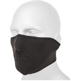 AMA Tactical Airsoft Neoprene Half Face Mask - BLACK