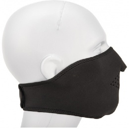 AMA Tactical Airsoft Neoprene Half Face Mask - BLACK