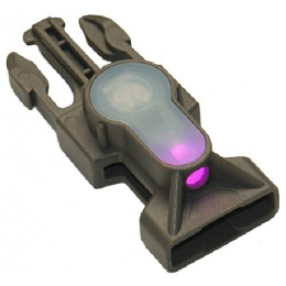 AMA Airsoft Pink LED Strobe QR Buckle Light - FOLIAGE GREEN