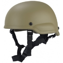 Lancer Tactical Airsoft Tactical Simple ACH MICH 2002 Helmet - TAN