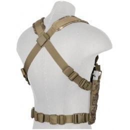Lancer Tactical Airsoft 1000D Nylon Denier QR MOLLE Chest Rig - CAMO TROPIC