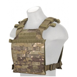 Lancer Tactical Airsoft QR Ballistic Plate Carrier - CAMO TROPIC