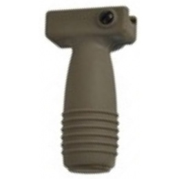 Lancer Tactical Airsoft Vertical Foregrip w/ Battery Storage - DARK EARTH