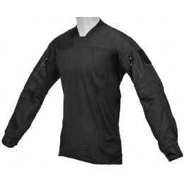 Lancer Tactical TLS HalfShell Combat Long Sleeve Shirt - BLACK