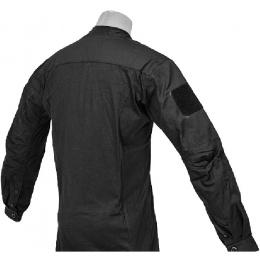 Lancer Tactical TLS HalfShell Combat Long Sleeve Shirt - BLACK
