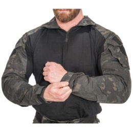 Lancer Tactical Airsoft Gen 3 Combat Shirt / Pants BDU - CAMO BLACK