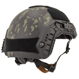 Lancer Tactical Adjustable Maritime Polymer Airsoft Helmet - CAMO BLACK (M/L)