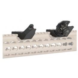 Lancer Tactical One O'Clock Off-Set Iron Sight Set - BLACK