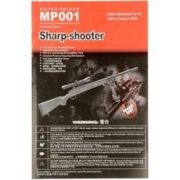 AGM Airsoft High Powered Bolt Action Sniper Rifle w/ Bipod - BLACK