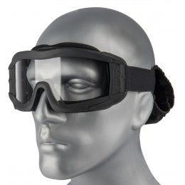 Lancer Tactical Airsoft Polycarbonate Safety Lens Goggles w/ UV400 Lens - BLACK