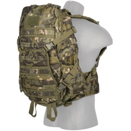 Lancer Tactical 600D EDC FAST Airsoft MOLLE Backpack - CAMO TROPIC