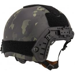 Lancer Tactical Airsoft Ballistic MH Type Helmet L/XL - CAMO BLACK