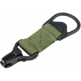 Lancer Tactical Airsoft Sling MA1 Single Point Paraclip Adapter - OD GREEN