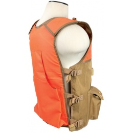 NcStar VISM PVC Outdoor Hunting Vest - BLAZE ORANGE/TAN