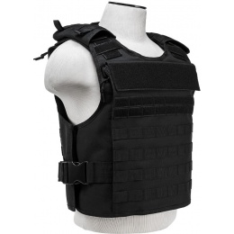 NcStar Tactical Airsoft MOLLE Plate Carrier Vest - BLACK