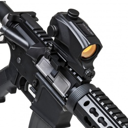 NcStar Tactical Solar Powered Red Dot Sight - BLACK