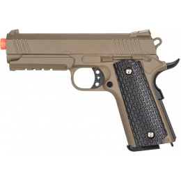 Galaxy G25D Metal 1911 Airsoft Spring Pistol - DARK EARTH