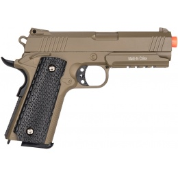 Galaxy G25D Metal 1911 Airsoft Spring Pistol - DARK EARTH
