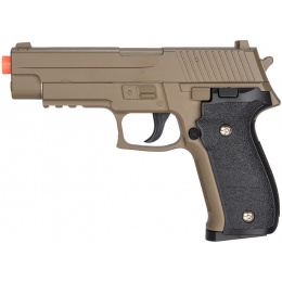 UK Arms G26D Airsoft Metal P226 Spring Pistol - DARK EARTH