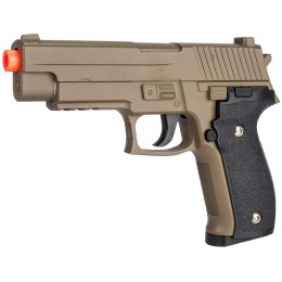 UK Arms G26D Airsoft Metal P226 Spring Pistol - DARK EARTH