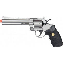 UK Arms Airsoft G36S Spring Revolver Pistol - Silver