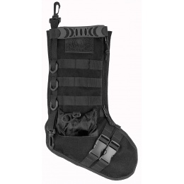 Lancer Tactical 600D Polyester Utility MOLLE Stocking - BLACK