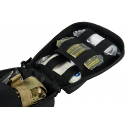 Lancer Tactical 600D Polyester Dual Strap EMT Pouch - BLACK