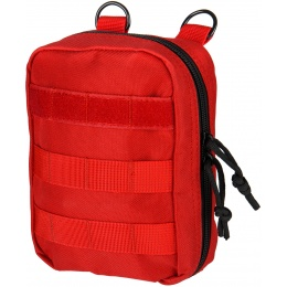Lancer Tactical 600D Polyester Dual Strap EMT Pouch - RED