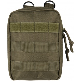 Lancer Tactical 600D Polyester Dual Strap EMT Pouch - OLIVE DRAB