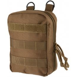 Lancer Tactical 600D Polyester Dual Strap EMT Pouch - TAN