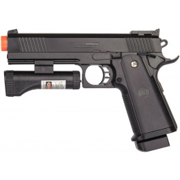 Galaxy 1911 Airsoft Spring Handgun w/ Laser - BLACK