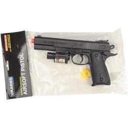 UK Arms P2400 Airsoft Spring Handgun w/ Laser - BLACK