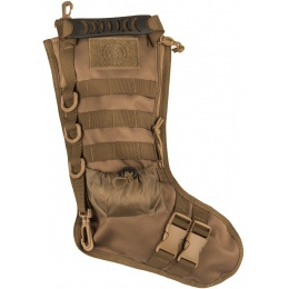 Lancer Tactical 600D Polyester Utility MOLLE Stocking - TAN