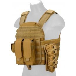 Lancer Tactical QR Tactical Airsoft Plate Carrier Vest - DARK EARTH