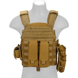 Lancer Tactical QR Tactical Airsoft Tactical Vest (Dark Earth)