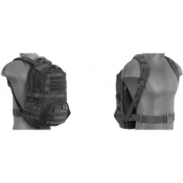 Lancer Tactical 600 Denier Nylon Patrol Backpack - BLACK