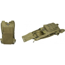 Lancer Tactical Nylon Lightweight Hydration Pack - OD GREEN