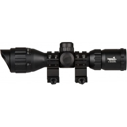Lancer Tactical 3-9x32 AOL Metal Mil-Dot Rifle Scope - BLACK