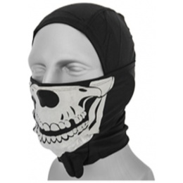 AMA Glow-in-the-Dark Balaclava Skull - BLACK