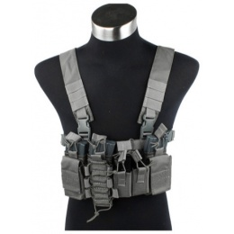 UK Arms Airsoft Tactical QR Chest Rig - FOLIAGE GREEN