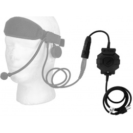 Z-Tactical ICOM PTT Radio/Headset Adapter - BLACK