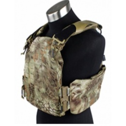 AMA Laser Cut Airsoft Plate Carrier w/ MOLLE Webbing - MLD