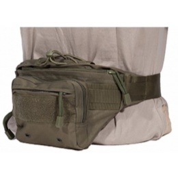 AMA 600D Polyester Tactical Hip-Pack w/ Clip Buckles - OD GREEN