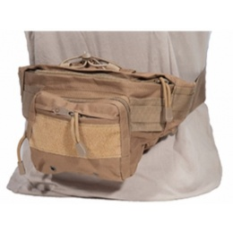 AMA 600D Polyester Tactical Hip-Pack w/ Clip Buckles - TAN